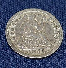 1851 US Seated Liberty Half Dime