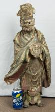 Chinese Large Clay / Pottery Ming Statue