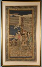 Chinese 19th Century Work on Silk