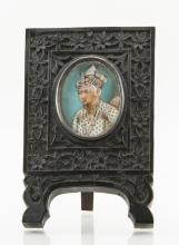 Indian Ebony Frame Miniature Painting 19th Century