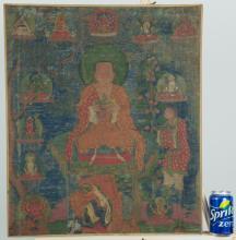 Tibetan Chinese Thangka 18th Century