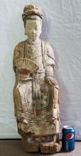 Chinese Large Ming Wood Statue