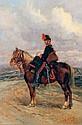 Édouard DETAILLE (1848 - 1912) Le cavalier Huile