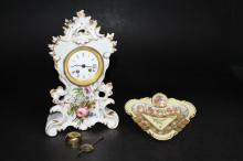 An Old Paris Porcelain Mantel Clock
