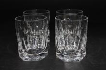 Lot of 4 Ralph Lauren Crystal Highball Glasses