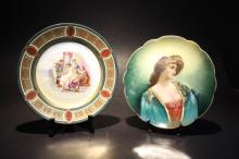Two Porcelain Cabinet Plates