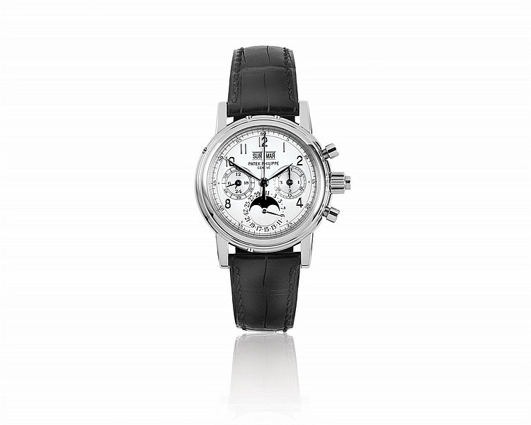 PATEK PHILIPPE, A MEN'S PLATINUM WRISTWATCH