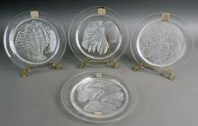 (4) Lalique Annual Collector plates (same as item #264) 1972-1975, all in orig. ...