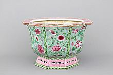 A Chinese porcelain famille rose jardiniere, Yongzheng