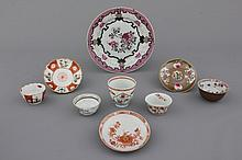 A small collection of various Chinese export porcelain, 18th C.