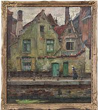 Emile Rommelaere (1873-1961), A view on the Groenerei, Bruges