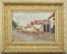 G. Deckers, A view of Ramskappelle, oil on canvas