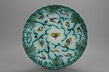 A Brussels faience butterfly dish, 18th C.