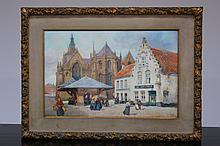 Louis Titz (1859-1932), Watercolour,