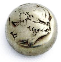 Rare Greek Gold Electrum Stater Coin, Apollo