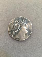 Silver Tetradrachm Coin, Antiochos VII,