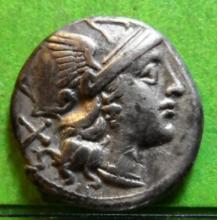 Ancient Roman Coin, Anonymous Silver Denarius