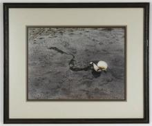 20thc Carol Stecher-Jones, Beach Scene Watercolor
