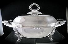 Vintage Silverplate Covered Casserole Serving Dish