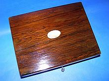 Circa 1860 Victorian Rosewood Box Lock & Key