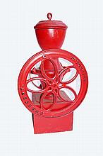 Red Painted General Store Coffee Grinder