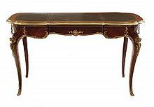 Louis XV-style Gilt Bronze Mounted Kingwood Table