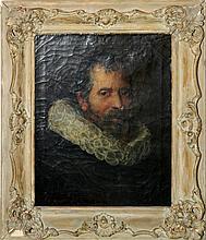 After Velasquez Oil on Canvas, Portrait of Man.