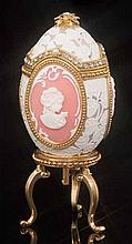 Faberge Inspired Cameo Jeweled Egg