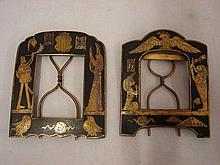 C 1900 pair of Egyptian Revival photo frames