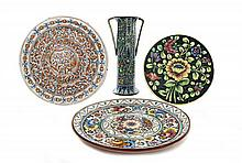 A Group of 4 Faience Ceramics