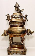Chinese Brass Incense Burner, 19th c.