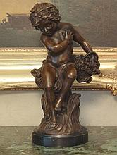 Cupid Cherub Bronze Sculpture
