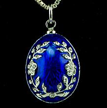 Ivy Faberge Inspired Egg Pendant