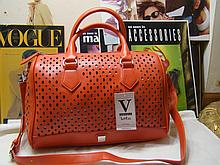 V Couture by Kooba Satchel Bag, Orange