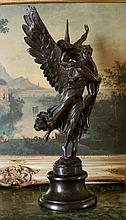 Beautiful Bronze Sculpture Cupid & Psyche