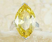 Stunning Citrine Topaz & Sterling Silver Ring