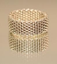 TIFFANY & CO. Somerset Mesh Ring Size 10.5