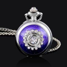 Delicate Ladies Crystal & Enamel Pocket Watch