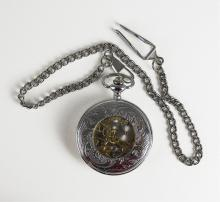 Stainless Steel Gentleman's Pocket Watch