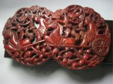 Rare Chinese Red Jade Carved Pendants
