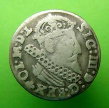 1624 Polish Silver 3 Grosz  Coin