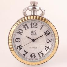 Stainless Steel Two-Tone Pocket Watch