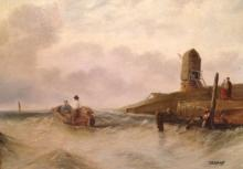 Signed Dutch Painting, Heading Out To Sea