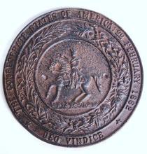 Confederate States of America Cast Iron Plaque