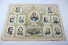 1860 Print, Republican Candidates, Lincoln,Chicago