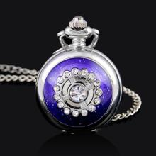 Delicate Ladies Crystal & Enamel Pocket Watch