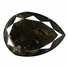 1.32 ct Top light Black Natural Diamond Pear