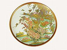 A Japanese Satsuma dish finely decorated