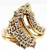 LADIES 14K GOLD DIAMOND CLUSTER RING