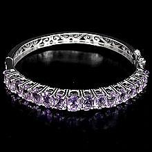 Deep Purple Amethyst Bangle Bracelet
